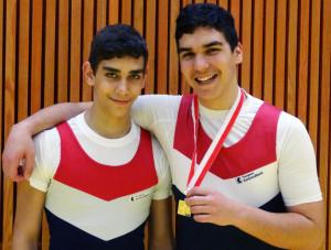 Nicolas Munafò (rechts) mit seinem Bruder Giuliano. (Bild: zvg)