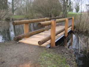 Ein stabiles Unikat: die neue Brücke beim Tierpark. (Bild: zvg)