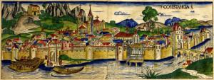 Konstanz und der Thurgau. Idealansicht aus der Weltchronik des Hartmann Schedel 1492. (Bild: zvg)