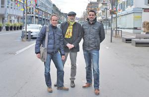 V.l.: Markus Brüllmann, Bernard Roth, Daniel Moos. (Bild: sb)