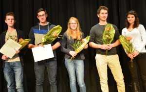 Die Preisträger (v.l.) Dominic Walz, Sandro Eberhard, Tabea Stöckl, Elias Stalder und Desiree Wenger. (Bild: zvg)