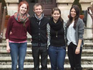 Unser Bild zeigt (v.l.) Leoni Unger, Daniel Fleischmann, Vanessa Ippolito und Annina Näf. (Bild: zvg)