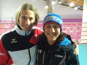 Jörg Walcher und die amerikanische Bobpilotin Elana Meyers, die bei Olympi in Sotschi die Silbermedaille gewann. (Bild: zvg)