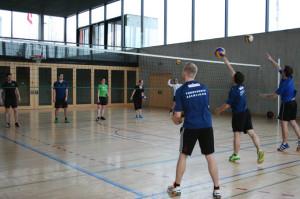 Voller Einsatz der Volleyball-Leiter vom TV Eschlikon. (Bild: zvg)