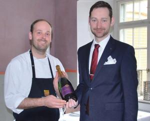 Die beiden Neuen im «Nocturne» haben beim Wine&Dine am 11. April ihren ersten grossen Auftritt»: Küchenchef Alexander Wussow (links) und Betriebsleiter Friedrich Diener. (Bild: Thomas Martens)