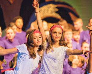 Die Teilnehmer der Kindermusicalwoche hatten viel Spass. (Bild: zvg)