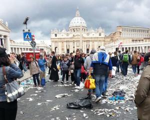 Der Petersplatz nach der Feier. (Bild: zvg)