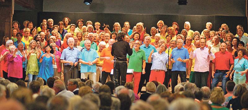 Der POPchor&band60plus Bodensee kommt nach Münsterlingen.(Bild: zvg)