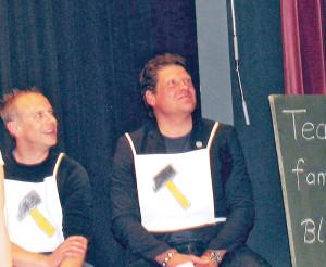 Am Samstag hatte Jan Ullrich (re.) in Bottighofen noch viel Spass. (Bild: zvg)