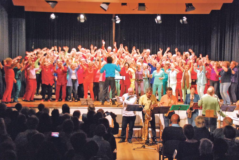 Ausgelassene Stimmung herrschte beim Konzert in Münsterlingen.(Bild: tm)