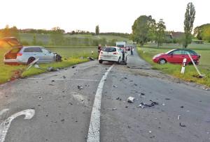 Bei Mattwil hatte sich am Montag der schwere Unfall ereignet. (Bild: Kapo TG)