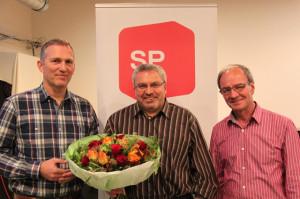 Der neue Vorstand des SP Bezirks Kreuzlingen: Vizepräsident Bodo Krehl, Präsdient Franco Bucca und Kassier Dino Lioi. (Bild: ek)