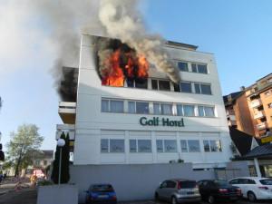 Beim Brand wurden mehrere Personen verletzt. (Bild: Kantonspolizei Thurgau)
