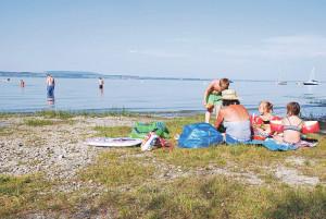 Der Badeplatz in Scherzingen soll aufgewertet werden. (Bild: Thomas Martens)