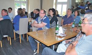 Die Gäste beim Gewerbe-Lunch hörten einen interessanten Vortrag. (Bild: tm)