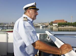Kapitän Zipsin am Steuer des MS Thurgau. (Bild: zvg)