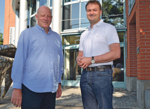 Dr. Michael Pieper und Dr. Henning Steen eröffnen am 7. Juli ihre eigene Kardiologie-Praxis am Rondo in Kreuzlingen. (Bild: Thomas Martens)