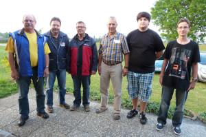 Das Bild zeigt (v.l.): Peter Hilpert, Bruno Lorenzato, Hansueli Zingg, Rudolf Kreis, Fabian Schori und Ramon Locher. (Bild: zvg)