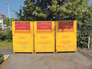 Altkleider-Container am Bärenplatz. (Bild: archiv)