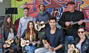 Die First-Ukulele-Band-Filsbach. (Bild: zvg)