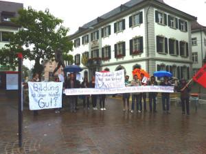 Die Juso Thurgau ist gegen die Sparpolitik. (Bild: zvg)