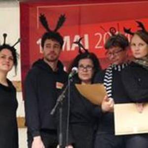 Christine Bertl, Julian Härtner, Franziska Kleinert, Denis Ponomarenko, Friederike Pöschel waren schon am 1. Mai 2014 dabei. (Bild: zvg)