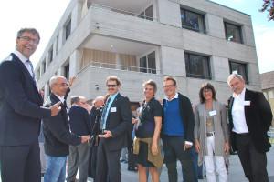 Grosse Freude bei den Verantwortlichen anlässlich der Eröffnung des Neubaus. (Bild: Thomas Martens)