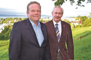 Christian Neuweiler kandidiert 2015 bei den Stadtratswahlen, David Blatter (rechts) tritt dann zur Schulpräsidiumswahl an. (Bild: sb)
