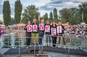 Die Organisatoren um Fantastical-Präsident Markus Baiker (2.v.l.) sagen Danke. (Bild: zvg)