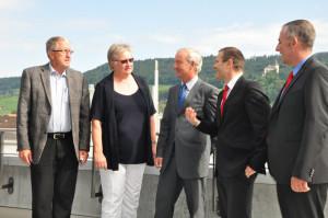 Stellten das Projekt Benevol vor und präsentierten die Zahlen: (v.l.) Paul Engelmann, Margrit Keller, Ralph Kepper, Urs Schneider und Heinz Bernet. (Bild: Werner Lenzin)