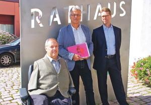 V.l.: Christian Lohr,Ernst Zülle und Thomas Dufner. (Bild: sb)