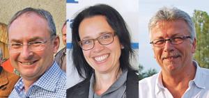 Thomas Beringer, Barbara Jäggi-Gretler und Ernst Zülle (v.l.) kandidieren für den Kreuzlinger Stadtrat. (Bild: Archiv)