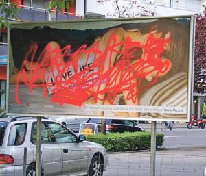 Die Kampage Love Life stösst nicht auf Gegenliebe. (Bild: sb)