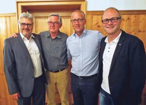 Der Vorstand des Vereins kann da nur strahlen: (v.l.) Jürg Schlatter, Paul Stähli, Christof Keller und Reto Ammann. (Bild: zvg)