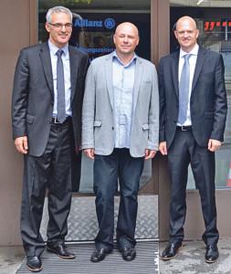 (v.l.) Allianz Generalagent Erich Marte, Hermann Weidenfelder und Oliver Walter. (Bild: zvg)