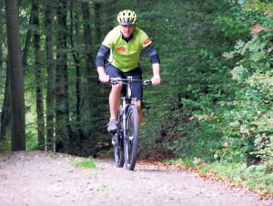 Michael Krucker freut sich über den Bike-Trail. (Bild: Thomas Martens)