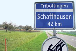 Das Gelände am Tägerwiler Ortsausgang. (Bild: Thomas Martens)