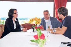 Barbara Jäggi-Gretler und Ernst Zülle (m.) haben zum Thema Steuersenkungen verschiedene Ansichten. (Bild: ek)