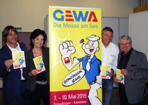 Sie informierten über die kommende GEWA (vl): Ralf Majer, Renate Giger, Werner Meister und Konrad Frommer. (Bild: kp)