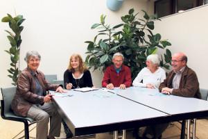 Die Organisatoren des Kreuzlinger Erzählcafés: (v.l.) Elsebeth Zecchinel, Doris Münch, Hans Sprunger, Hanni Knüsel und Karl Kohli.(Bild: ek)