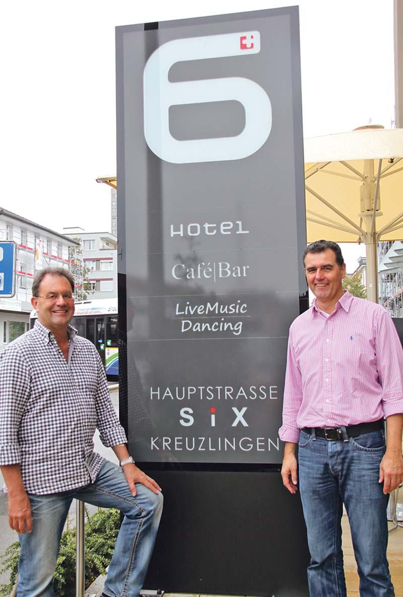 LED Pylone in Kreuzlingen, Leuchtreklame Hotel Six
