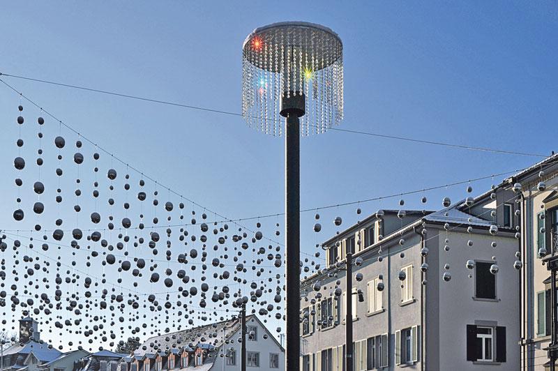 Auch die Weihnachtsbeleuchtung des kreuzlinger Boulevards setzt auf LED. (Bild: zvg)