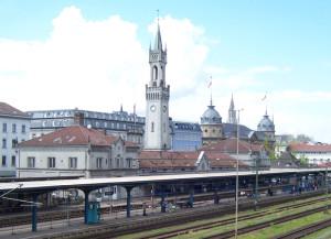 Am Konstanzer Bahnhof soll es eine Fussgängerzone geben. (Bild: wikipedia)