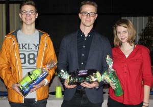 (v.l.): Stefan Hefti (2. Rang), Jan Heinzelmann (1. Rang), Gabriele Habersat (3. Rang). (Bild: zvg)