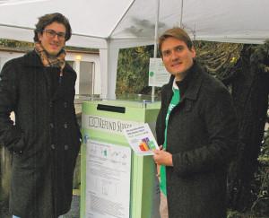 Sie hatten die Idee: Christian Freihofer und Philippe Bartscherer. (Bild: sb)