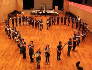 Mit ganzem Herzen bei der Sache: Die Jugendmusik Kreuzlingen probt für den «Kampf der Orchester».(Bild: ek)