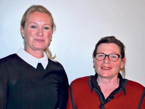 Gemeinderätin Lisa Raduner (r.) will Rosmarie Obergfell 2015 als Frau Gemeindeammann in Gottlieben beerben. (Bild: tm)