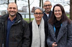 Das Leiterteam der Abteilung Sozialprojekte (v.l.): Stefan Luginbühl, Barbara Gnädinger, Thomas Niederhauser und Karin Nobel, Sekretariat.