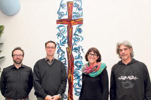 Organisieren mit anderen den «Go Special» Gottesdienst: Silvio Fantauzzi (v.l.), Gunnar Brendler, Barbara Greco-Spiegel und Jmerio Pianari.(Bild: ek)