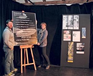 Simon Hungerbühler und Birgit Auwärter sind die neuen Programmleiter im Theater an der Grenze.(Bild: ek)